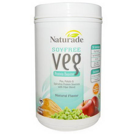 Naturade, Soy-Free Veg, Protein Booster, Natural Flavor, 29.6oz (840g)
