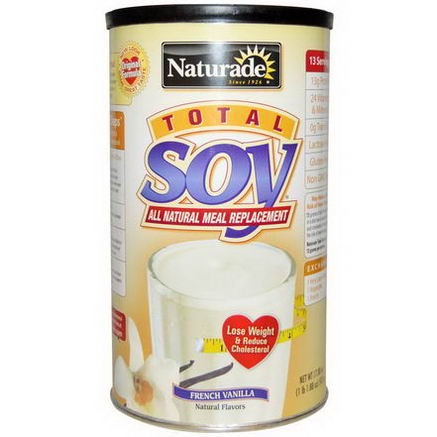 Naturade, Total Soy All Natural Meal Replacement, French Vanilla, 17.88oz (507g)