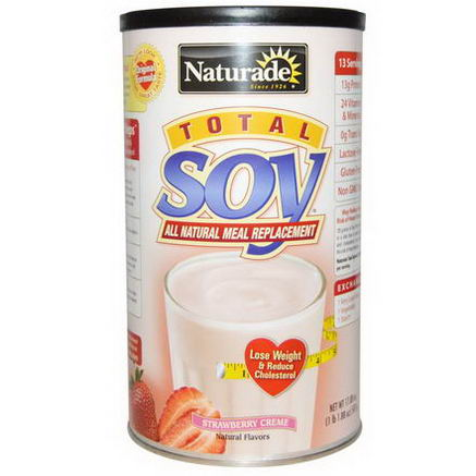 Naturade, Total Soy, All Natural Meal Replacement, Strawberry Cream, 17.88oz (507g)