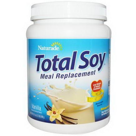 Naturade, Total Soy, Meal Replacement, Vanilla, 19.1oz (540g)