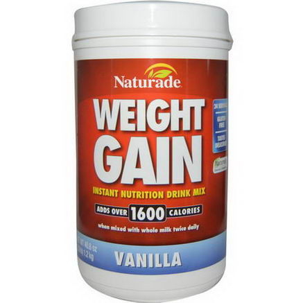Naturade, Weight Gain, Vanilla, 40.6oz (2.9 lb)