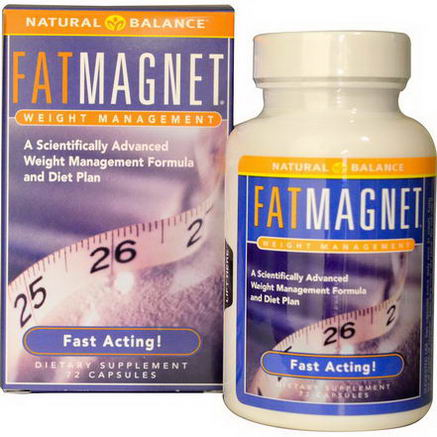 Natural Balance, Fat Magnet, Weight Management, 72 Capsules