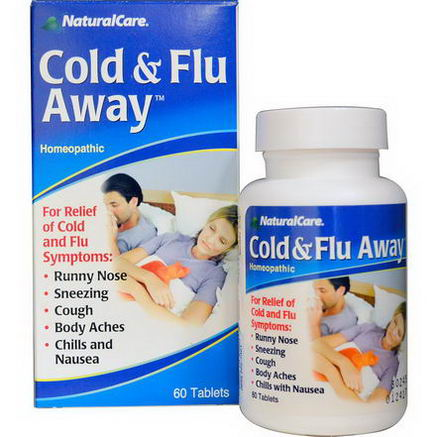 Natural Care, Cold & Flu Away, 60 Tablets