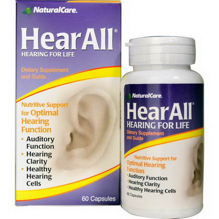 Natural Care, HearAll, 60 Capsules