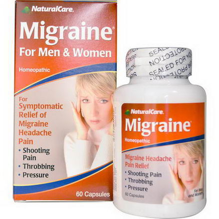 Natural Care, Migraine, For Men and Women, 60 Capsules