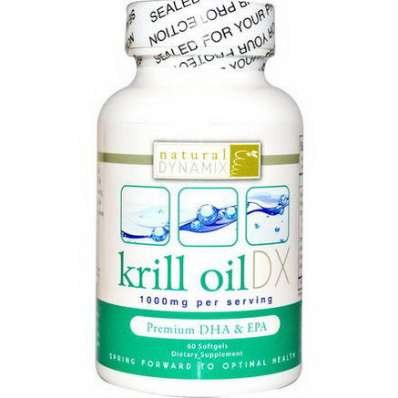 Natural Dynamix, Krill Oil DX, 1000mg, 60 Softgels