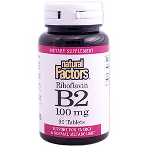 Natural Factors, B2 Riboflavin, 100mg, 90 Tablets
