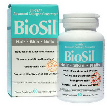 Natural Factors, BioSil, ch-OSA Advanced Collagen Generator, 60 Veggie Caps