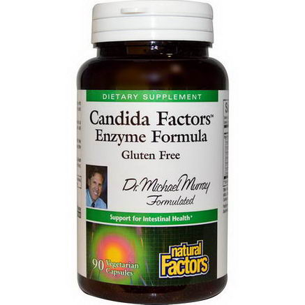 Natural Factors, Candida Factors Enzyme Formula, 90 Veggie Caps