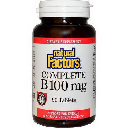 Natural Factors, Complete B, 100mg, 90 Tablets