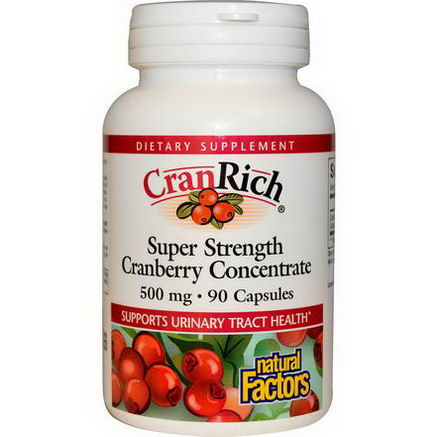 Natural Factors, CranRich, Super Strength Cranberry Concentrate, 500mg, 90 Capsules