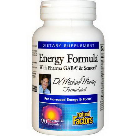Natural Factors, Energy Formula, With Pharma GABA & Sensoril, 90 Veggie Caps