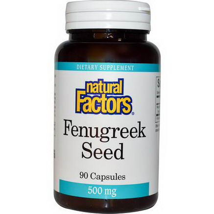 Natural Factors, Fenugreek Seed, 500mg, 90 Capsules