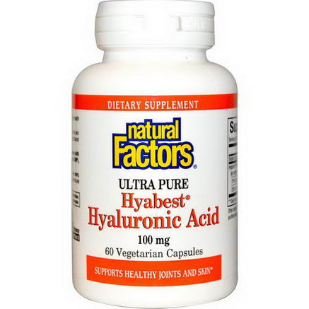 Natural Factors, Hyabest Hyaluronic Acid, 100mg, 60 Veggie Caps