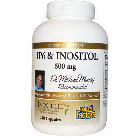 Natural Factors, IP6 & Inositol, 500mg, 240 Capsules