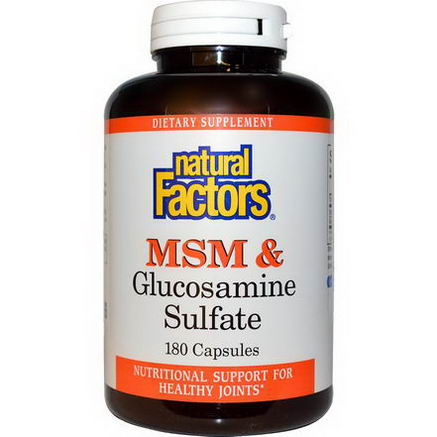 Natural Factors, MSM & Glucosamine Sulfate, 180 Capsules