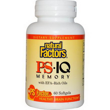 Natural Factors, PS IQ Memory with EFA-Rich Oils, 60 Softgels