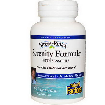 Natural Factors, Stress-Relax, Serenity Formula with Sensoril, 60 Veggie Caps