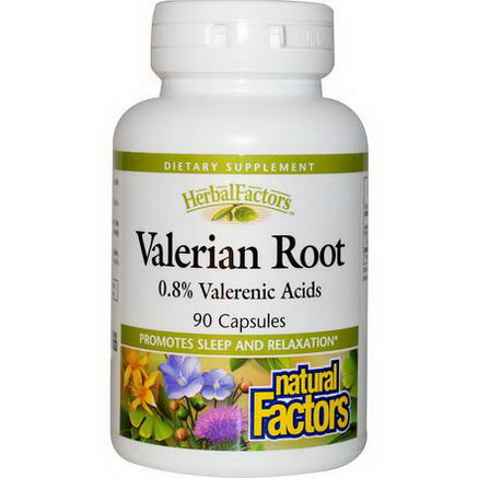 Natural Factors, Valerian Root, 90 Capsules