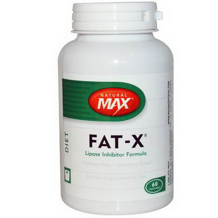 Natural Max, Fat-X, Lipase Inhibitor Formula, 60 Fastcaps