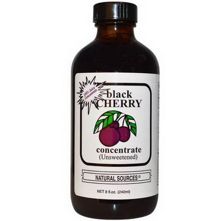 Natural Sources, Black Cherry Concentrate, (Unsweetened), 8 fl oz (240 ml)