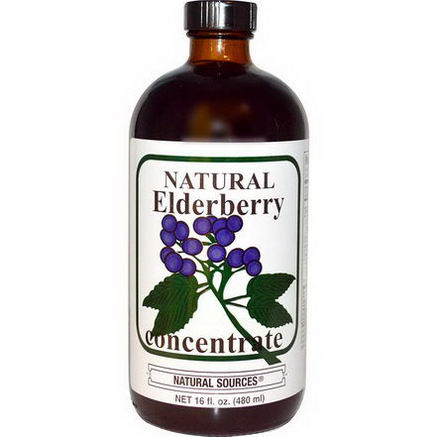 Natural Sources, Natural Elderberry Concentrate, 16 fl oz (480 ml)