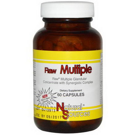Natural Sources, Raw Multiple, 60 Capsules