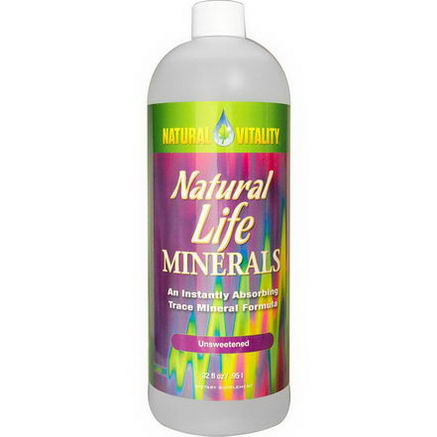 Natural Vitality, Natural Life Minerals, Unsweetened, 32 fl oz (. 95 l)