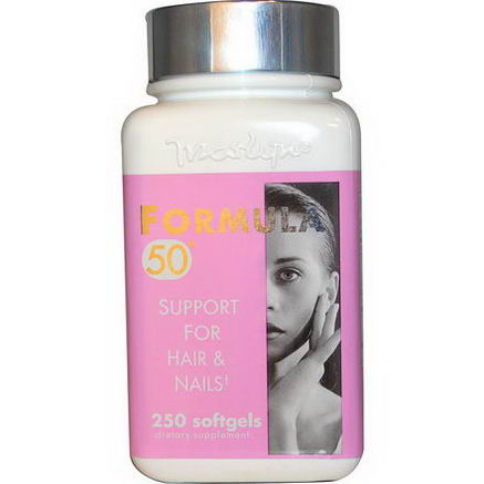 Naturally Vitamins, Marlyn, Formula 50, Support For Hair & Nails, 250 Softgels