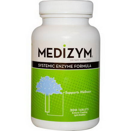 Naturally Vitamins, Medizym, Systemic Enzyme Formula, 200 Tablets