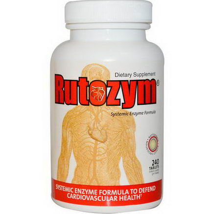 Naturally Vitamins, Rutozym, Systemic Enzyme Formula, 240 Tablets