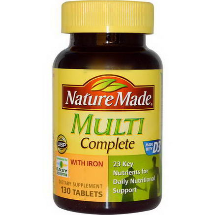 Nature Made, Multi Complete with Iron, 130 Tablets