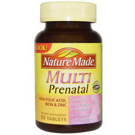 Nature Made, Multi Prenatal, Complete Multi Vitamin/Mineral, 90 Tablets