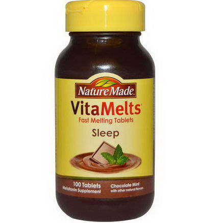 Nature Made, VitaMelts, Sleep, Chocolate Mint, 100 Tablets