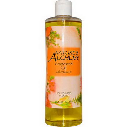 Nature's Alchemy, Grapeseed Oil with Vitamin E, 16 fl oz (473 ml)