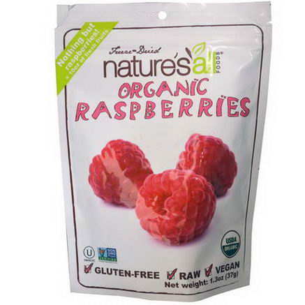 Nature's All, Freeze-Dried Organic Raspberries, 1.3oz (37g)