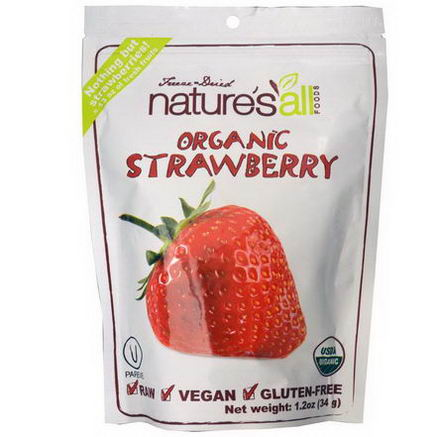 Nature's All, Freeze-Dried Organic Strawberry, 1.2oz (34g)