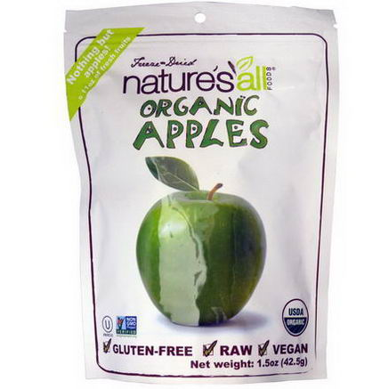 Nature's All, Organic Apples, 1.5oz (42.5g)