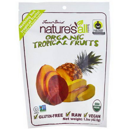 Nature's All, Organic Tropical Fruits, 1.5oz (42.5g)