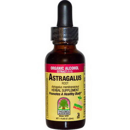 Nature's Answer, Astragalus Root, Organic Alcohol Extract (1:1), 1 fl oz (30 ml)