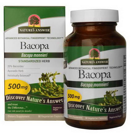 Nature's Answer, Bacopa, 500mg, 90 Veggie Caps