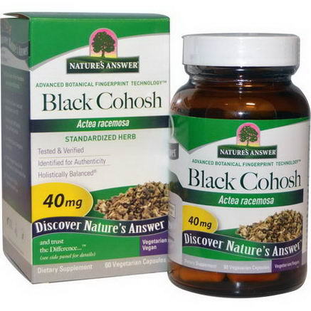 Nature's Answer, Black Cohosh, 40mg, 60 Veggie Caps