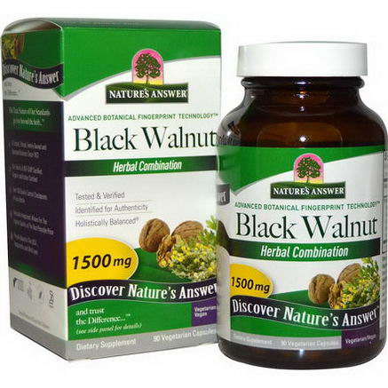 Nature's Answer, Black Walnut, Herbal Combination, 1500mg, 90 Veggie Caps