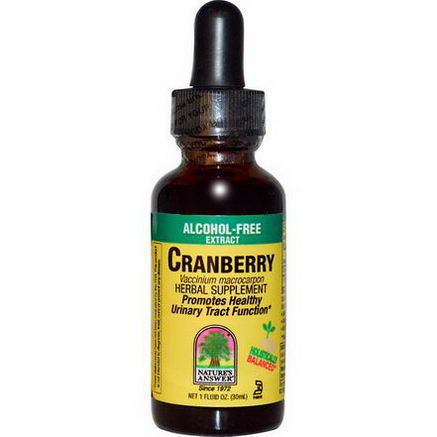 Nature's Answer, Cranberry, Alcohol-Free, 1 fl oz (30 ml)