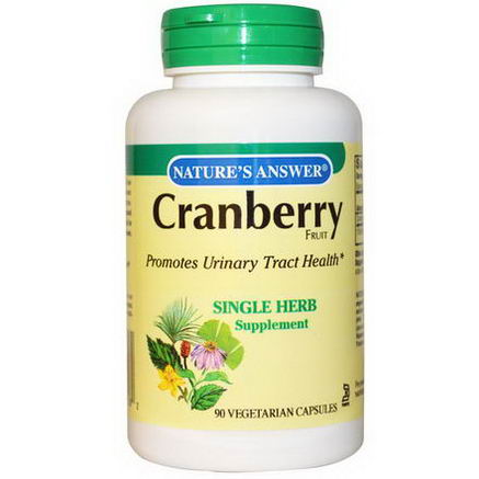 Nature's Answer, Cranberry, Fruit, 90 Veggie Caps
