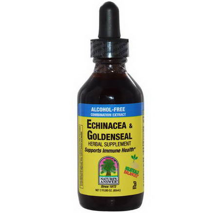 Nature's Answer, Echinacea & Goldenseal, Alcohol-Free Combination Extract, 2 fl oz (60 ml)