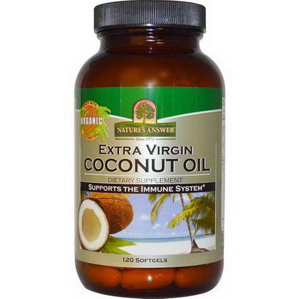 Nature's Answer, Extra Virgin Coconut Oil, 120 Softgels