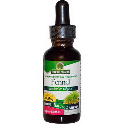 Nature's Answer, Fennel, Organic-Alcohol, 1 fl oz (30 ml)