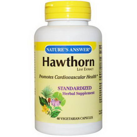 Nature's Answer, Hawthorn Leaf Extract, 60 Veggie Caps