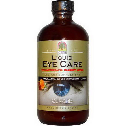 Nature's Answer, Liquid Eye Care, Natural Orange and Strawberry Flavors, 8 fl oz (240 ml)